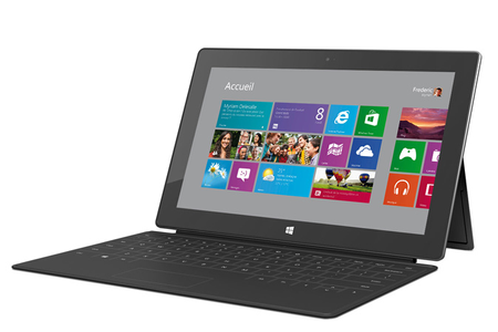 microsoft surface microsoft surface rt 64 go avec clavier touch cover noir surfacert darty. Black Bedroom Furniture Sets. Home Design Ideas