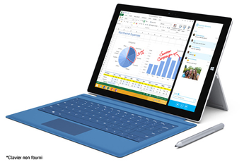 PC Hybride / PC 2 en 1 SURFACE PRO 3 256 Go i7 Microsoft