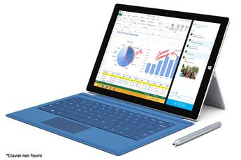 PC Hybride / PC 2 en 1 SURFACE PRO 3 512 GO i7 Microsoft