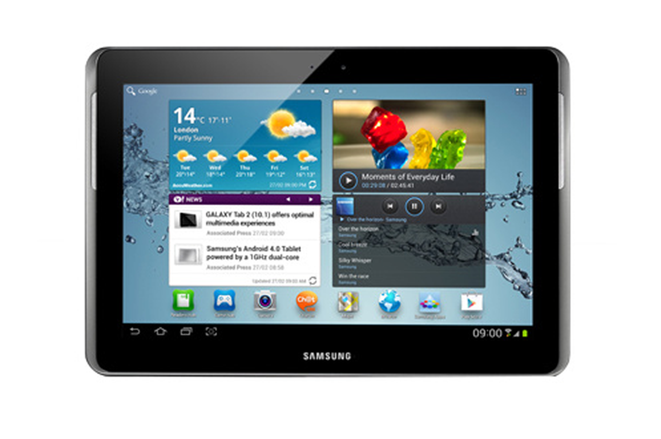 tablette tactile samsung galaxy tab 2 10 1 16 go argent gt. Black Bedroom Furniture Sets. Home Design Ideas