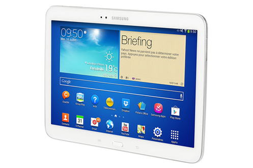 Tablette tactile samsung galaxy tab 3 blanc 10 1 for Tablette tactile cuisine