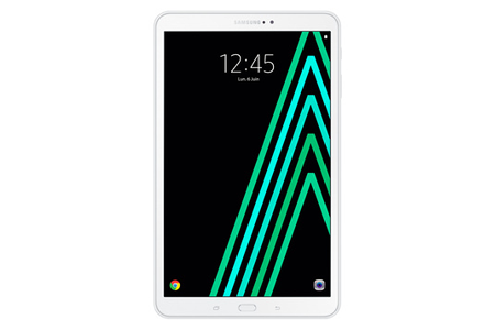 tablette tactile samsung galaxy tab a 10 1 blanche 16 go wifi 4g glx tab a 10 1 4g darty. Black Bedroom Furniture Sets. Home Design Ideas