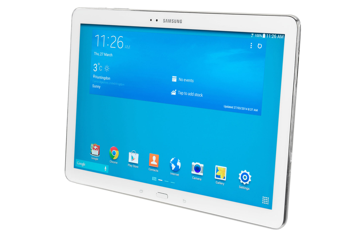 tablette tactile samsung galaxy tab pro 10 1 blanche 16 go 4006810 darty. Black Bedroom Furniture Sets. Home Design Ideas