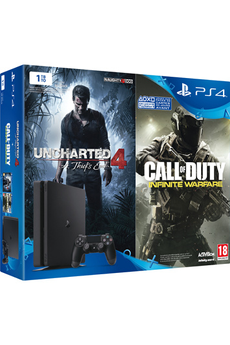 Consoles PS4 PS4 1TO + UNCHARTED 4 + CALL OF DUTY INFINITE WARFARE Sony
