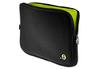 """Sacoche pour ordinateur portable Housse Noir et verte pour MacBook 13"""" ou PC 13"""" Be.ez"""