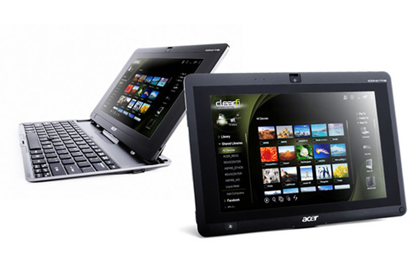 tablette tactile acer iconia tab w500 c52g03iss clavier 3455033 darty. Black Bedroom Furniture Sets. Home Design Ideas
