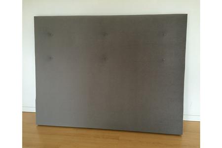 dosseret et t te de lit sealy tete de lit gris 160 darty. Black Bedroom Furniture Sets. Home Design Ideas