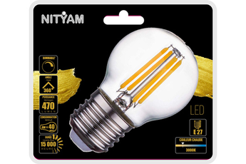 Ampoule LED Nityam LED SPHERIQUE FILAMENT CLAIR DIMMABLE