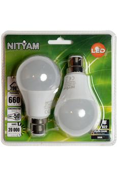 Ampoule LED STANDARD DEPOLIE B22 8W (X2) Nityam