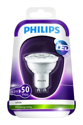 ampoule led philips spot gu10 4 5w 50w spot gu10 4. Black Bedroom Furniture Sets. Home Design Ideas