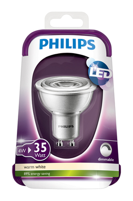 ampoule led philips spot gu10 4w 35w comp variateur. Black Bedroom Furniture Sets. Home Design Ideas