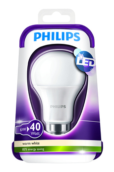 Ampoule LED STANDARD - 6W (40W) - CULOT B22 Philips