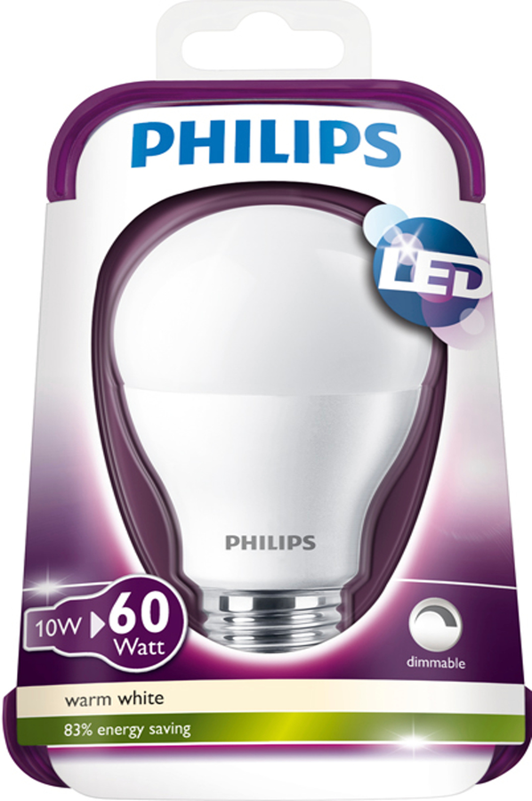 ampoule led philips standard depolie 9 5w 60w culot e27 4021789 darty. Black Bedroom Furniture Sets. Home Design Ideas