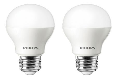 ampoule led philips standard 6 5w 40w culot e27 x2 darty. Black Bedroom Furniture Sets. Home Design Ideas