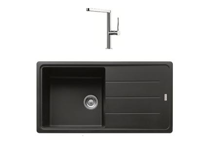 eviers franke basis bfg611 97 graphite mitigeur lounge 024987 darty. Black Bedroom Furniture Sets. Home Design Ideas