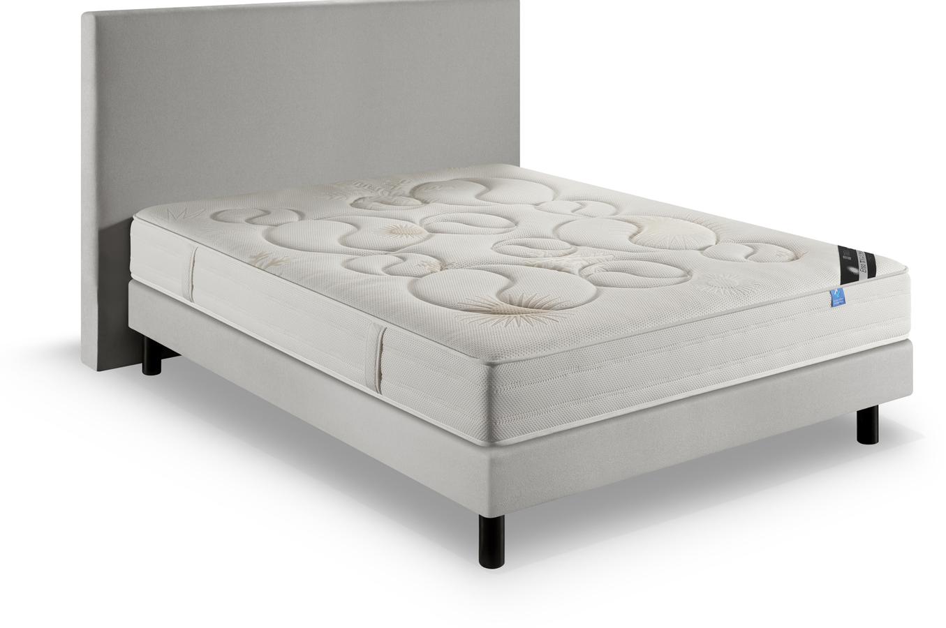 pack ensemble matelas et sommier treca enso 160x200 d24. Black Bedroom Furniture Sets. Home Design Ideas