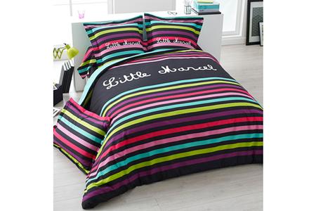 housse de couette parure de lit little marcel drap housse little marcel multico 160x200cm darty. Black Bedroom Furniture Sets. Home Design Ideas