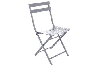 Chaise et fauteuil de jardin Hesperide Chaise de jardin Pliable GREENSBORO Gris QUARTZ