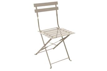 Chaise et fauteuil de jardin Hesperide Chaise de jardin Pliable CAMARGUE TAUPE