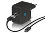 Chargeur portable CHARGEUR SECTEUR USB NOIR 2.1A AVEC CABLE MICROUSB Temium