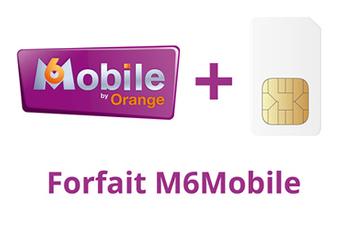 Forfait SIM seule M6 Mobile 2h - 50 Mo - NON BLOQUE ORANGE