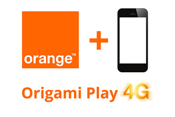 Forfait ORIGAMI PLAY 8GO ORANGE