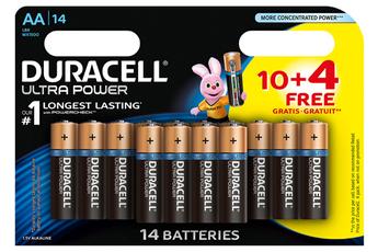 Pile ULTRA POWER AAX10+4 Duracell