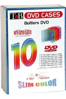 Rangement CD / DVD 10 BOITES DVD Tnb