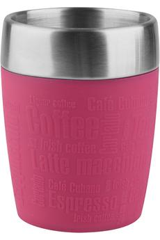 Mug isotherme TRAVEL CUP 0,2L INOX/FRAMBOISE Emsa