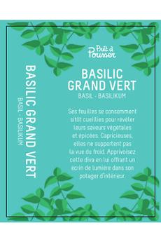 Potager d'intérieur Pret @ Pousser Capsule Prêt à Pousser - Basilic Grand Vert