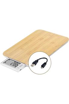 Balance de cuisine Little Balance sans pile USB bambou véritable