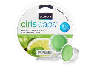 Diffuseur d'arômes CIRIS CAPSULES DE CIRE CAÏPIRINHA DU BRESIL Devineau