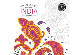 Livre beauté, santé, forme ART-THERAPIE COLORIAGES INDIA Marabout