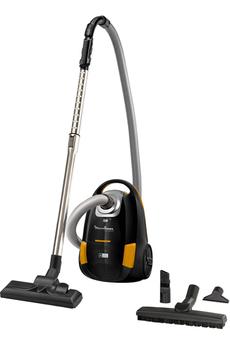 Niveau sonore : 78 dB Capacité du sac : 2,5 L Consommation énergétique : 28 kWh/an Brosse double position et brosse parquet