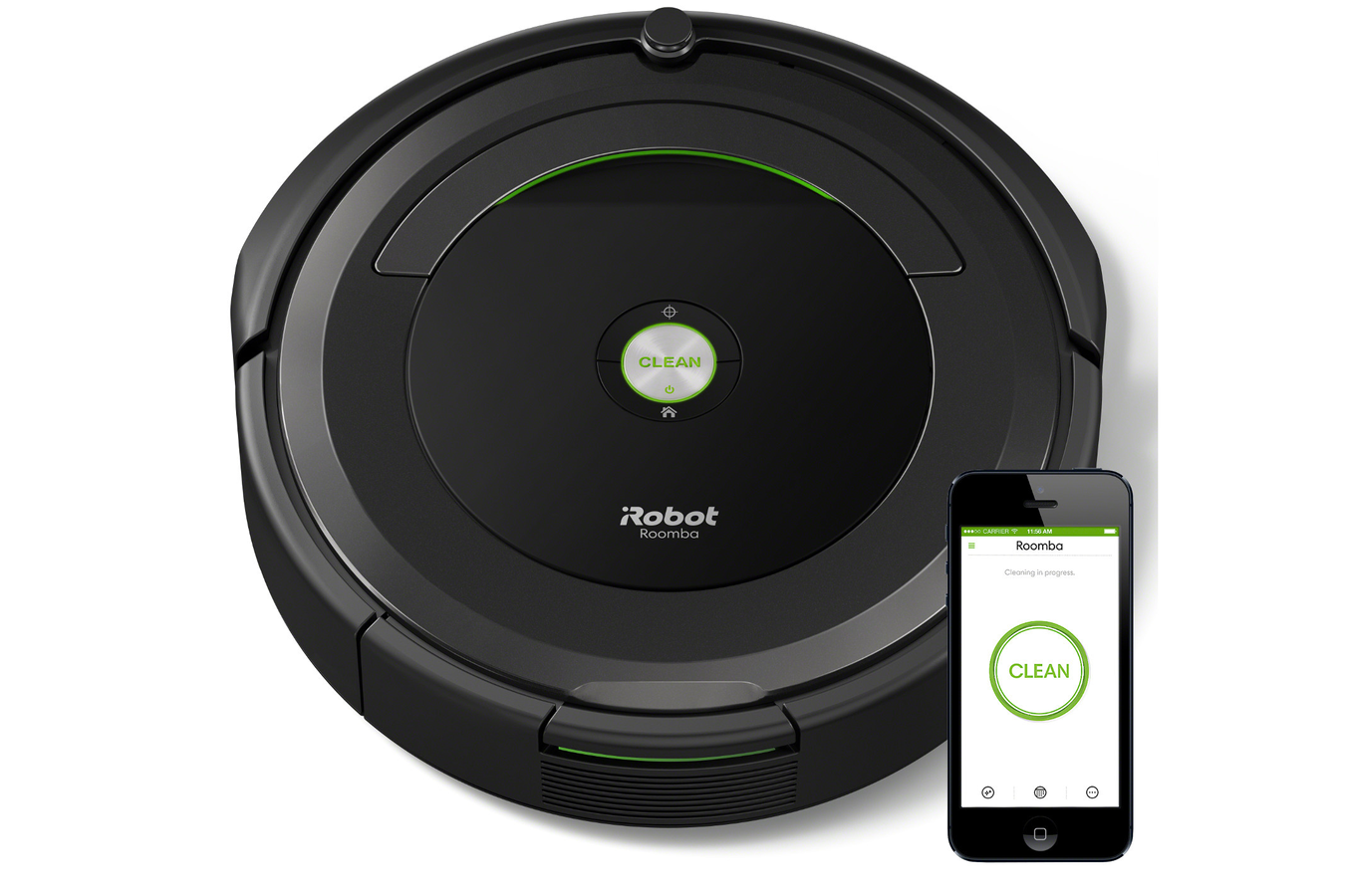 aspirateur robot irobot roomba 696 4304551 darty. Black Bedroom Furniture Sets. Home Design Ideas
