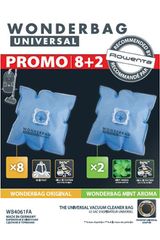 Sac aspirateur SAC WONDERBAG UNIVERSAL X10 Rowenta