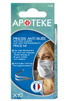 Accessoire soin traitant Apoteke PINCES ANTI BUEE X10