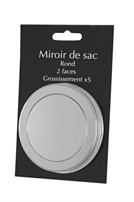 Miroir novex miroi o rond gris 1329642 for Miroir rond gris