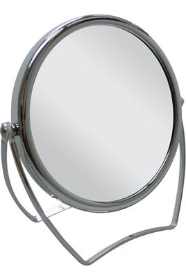 Miroir sur pied 1 face normale / 1 face grossissante Pour une épilation et un maquillage parfait