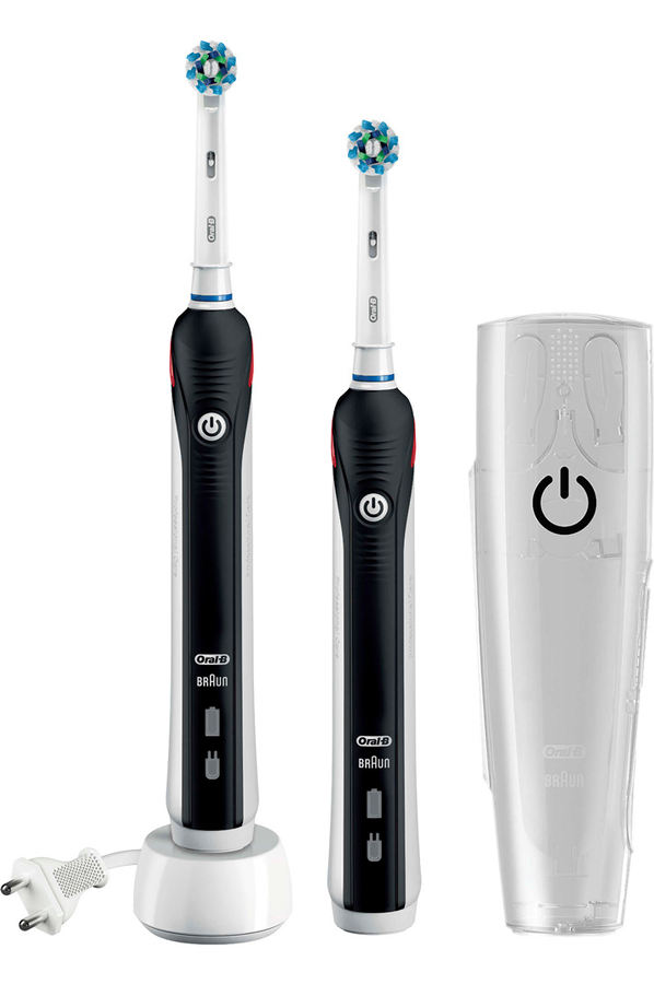 brosse dent electrique oral b pro 1900 black duo cross. Black Bedroom Furniture Sets. Home Design Ideas