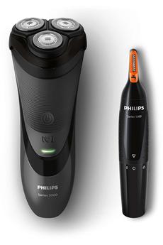 Rasoir électrique S3110/41 + TONDEUSE NEZ/OREILLES Philips