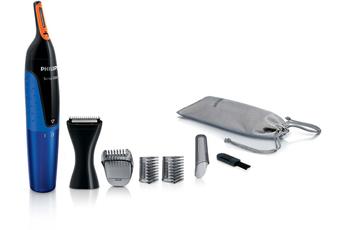 PHILIPS NT5175/16 Tondeuse Pattes Moustaches Nez Oreilles Sourcils + tondeuse de précision avec tech