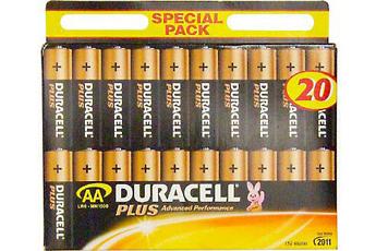 Pile LR06 AA x20 PLUS Duracell