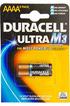 Duracell ULTRA M3 LR61 AAAA X2 photo 1