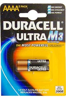 Pile ULTRA M3 LR61 AAAA X2 Duracell
