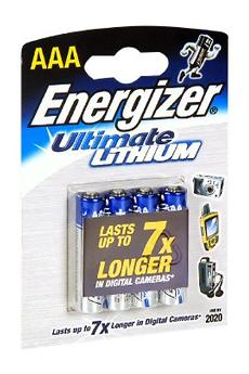 Pile LR03 X4 LITHIUM Energizer
