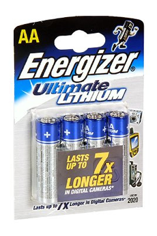 Pile LR06 X4 ULTIMATE LITHIUM Energizer