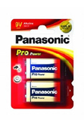 Panasonic 9V 6LR61 x2 PRO POWER