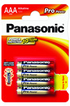 Pile PRO POWER AAA LR03 x4 Panasonic
