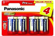 Pile Panasonic LR20 D x4 PRO POWER